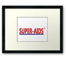 Super-Aids Framed Print