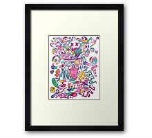 Pastel Drugs Framed Print