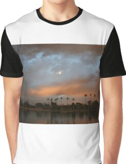Layers of clouds at the lake Graphic T-Shirt