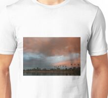 Blue and pink January sky Unisex T-Shirt