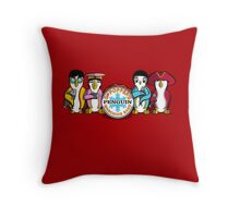 Sgt Poppers Penguin Marching Band Throw Pillow