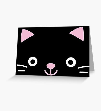 Cat face -kawaii- Greeting Card
