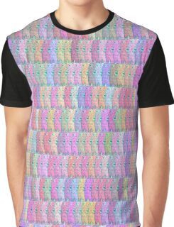 Melting Ice Cream Popsicle Tight Brick Fill Rainbow Pattern Graphic T-Shirt