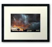 Battle of the sky gods Framed Print