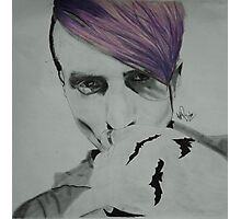 Mitch Grassi Bats Tattoo Photographic Print