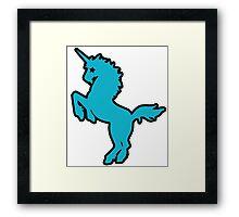 ROCKSTAR unicorn Framed Print
