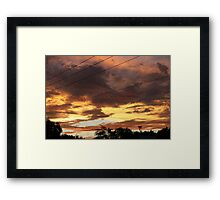 A masterpiece in clouds Framed Print
