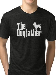 The Dogfather Bull Terrier T-shirt Dog Lover Gifts Tri-blend T-Shirt