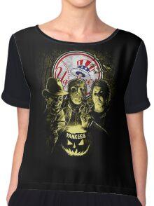 New York Yankees Halloween T-shirt  Chiffon Top