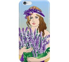 Girl with a flower iPhone Case/Skin