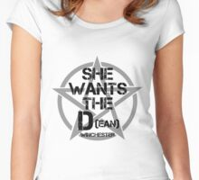 She Wants The D(ean) Women's Fitted Scoop T-Shirt