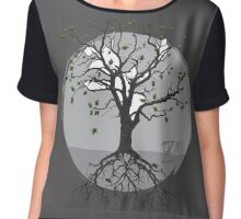 Roots and Leaves Chiffon Top