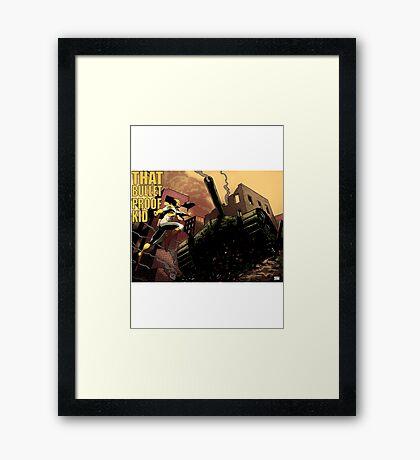 That Bulletproof Kid vs Tank Framed Print
