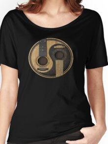 Acoustic Guitars Yin Yang Women's Relaxed Fit T-Shirt