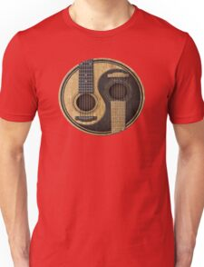 Acoustic Guitars Yin Yang Unisex T-Shirt