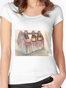 Soda Pop-scroll down to view more of  my work Women's Fitted Scoop T-Shirt