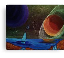 Sailing Planets Canvas Print