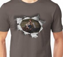 Jamie & Claire in paper tear frame. Unisex T-Shirt