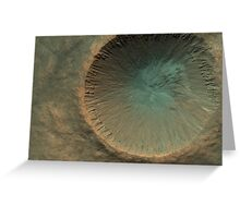 Mars Crater Greeting Card