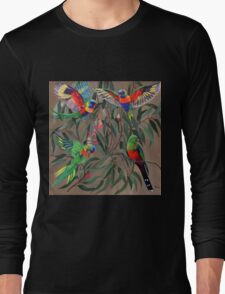 Birds from Paradise. Rosellas Long Sleeve T-Shirt