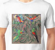 Birds from Paradise. Rosellas Unisex T-Shirt
