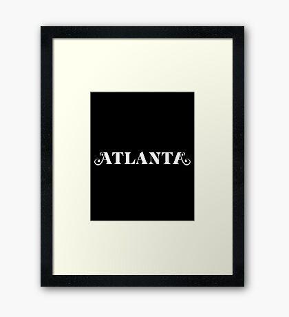atlanta tv show again Framed Print