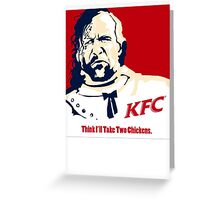The Hound KFC Chicken. Greeting Card