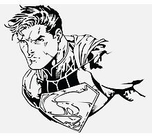 The Man of Steel (Ink) Photographic Print
