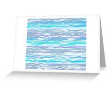 Waves #4, original design Greeting Card