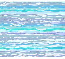 Waves #4, original design Photographic Print