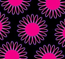 Big Pink Daisy Abstract by ELVSmith03