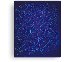 Beautiful Glowing Blue Swirls Canvas Print