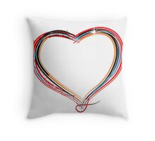 Funky heart illustration Throw Pillow