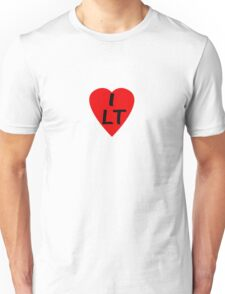 I Love Lithuania - Country Code LT T-Shirt & Sticker Unisex T-Shirt