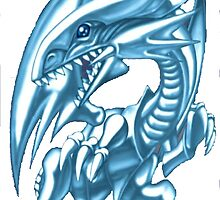 blue eyes white dragon yugioh by diggydude