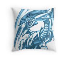 blue eyes white dragon yugioh Throw Pillow