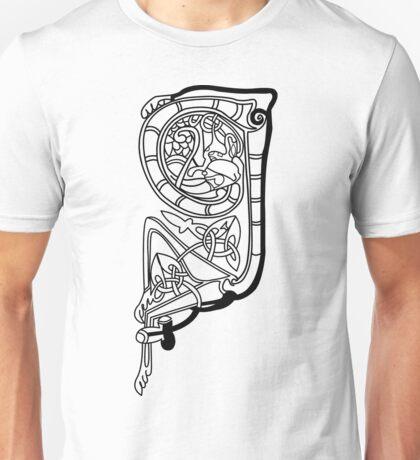 Kells Letter Q Unisex T-Shirt