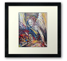The time of weeping angels Framed Print