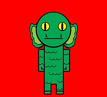 the creature from the black lagoon by CannibalHippo
