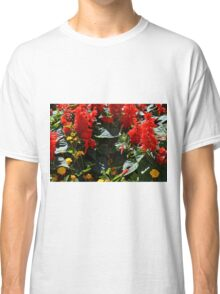 Red flowers texture Classic T-Shirt