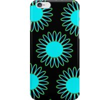 Big Cyan Daisy Abstract iPhone Case/Skin