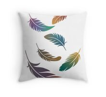 Flying Feathers Throw Pillow