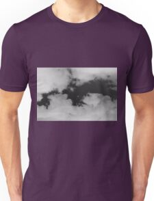 White clouds on a black sky Unisex T-Shirt