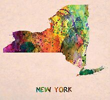 new York map  by motiashkar