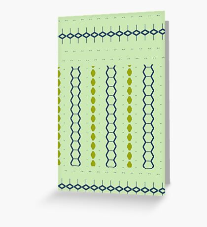 Sharp Green Style Greeting Card