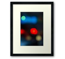 evning blue blurred background Framed Print