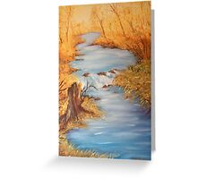 River in autumn Greeting Card