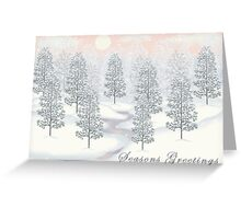 Snowy Day Winter Scene - Seasons Greetings Christmas Card Greeting Card