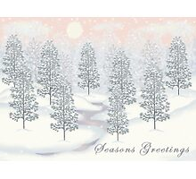 Snowy Day Winter Scene - Seasons Greetings Christmas Card Photographic Print