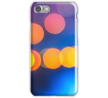 abstract background of blurred lights with bokeh effect iPhone Case/Skin